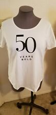 "Womens Chico ""50 Years BOLD"" White SS T Shirt Sz 3x NWT"