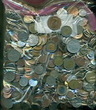 14 POUNDS of ASSORTED WORLD COINS...NICE VARIETY!  Lot #766