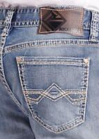 Rock & Roll Cowboy Men's Double Barrel Reflex Relaxed Straight Leg Jeans M0S6607