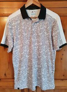 Adidas Climacool Golf Urban Camo Polo Shirt Top Grey White Mens Small