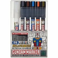 Gundam Marker Ams122 Pouring Inking Pen Set From Japan