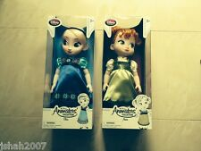 Official Disney Store Frozen Elsa & Anna Animators Toddler Dolls NEW *LOOK*