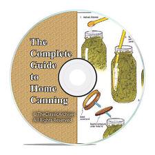 Home Canning Food Vegetables Preserving Jars Recipes, over 130+ Books on DVD V50