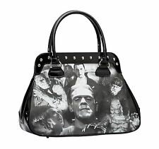 ROCK REBEL UNIVERSAL MONSTERS COLLAGE HANDBAG PURSE PUNK HORROR DRACULA MUMMY