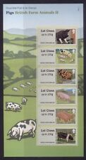 GB 2012 POST AND GO BRITISH FARM ANIMALS 2 (PIGS) STAMP SET MINT