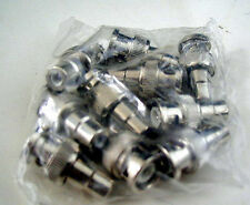 LOT OF 20 BNC MALE TO RCA FEMALE ADAPTER