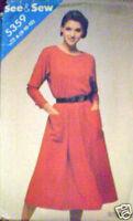 Vintage Butterick SEWING Pattern Dress 5359 8 10 12 SEW