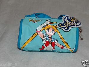 """NEW WITH TAGS SAILOR MOON COIN PURSE SMALL BLUE DUFFLE BAG 2"""" X 3"""""""