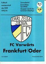 OL 75/76  FC Carl Zeiss Jena - FC Vorwärts Frankfurt/O.
