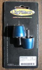 LighTech Aluminum Handlebar Caps (Bar Ends) for Ducati, Kawasaki - Blue
