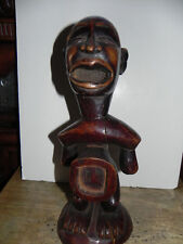 "Arts of Africa - Bakongo Warrior Fetish - Congo 15""HX6W"