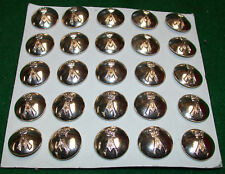 Staybrite Military Buttons: 25 Buttons 22mm Diameter