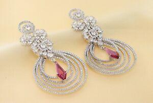 Gorgeous Cubic Zirconia Circle Dangle Earrings 26 ME 6