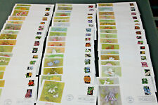 USA 1992 WILDFLOWERS - FULL SET OF 50 ILLUSTRATED OFFICIAL FIRST DAY COVERS
