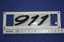 "FÜR PORSCHE 911 993 HECK SCHRIFTZUG EMBLEM MOTORHAUBE "" 911 ""   SCHWARZ NEU"