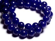 Fil 39cm 37pc env - Perles de Pierre - Jade Boules 10mm Bleu nuit