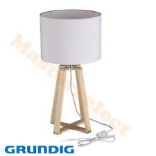 Lampe de chevet table pour chambre salon en bois de marque Grundig