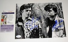 The Outsiders Ralph Macchio and C Thomas Howell Dual Signed 8x10 Photo JSA CERT
