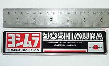 YOSHIMURA silver metal exhaust logo plate plaque 3D decals emblem sticker japan