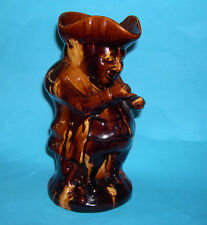 Antique Rockingham Pottery Attractive Unusual Blonde / Treacle Glaze Toby Jug.