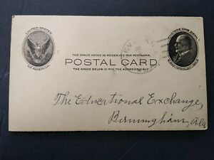 Alabama: Cleveland 1907 Postal Card, Listing Doane 2/2 Cancel, Blount Co