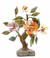 Vintage Chinese Jade Tree Amethyst Agate Quartz Stone Bonsai Nephrite China Old