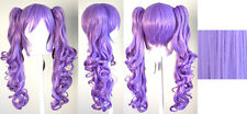 23'' Curly Pig Tails + Base Lavender Purple Cosplay Wig NEW