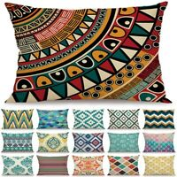 Geometric Rectangle Pillow Case Waist Throw Cushion Cover Office Sofa Home Decor