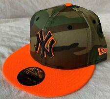 New Era New York Yankees MLB Camouflage Flat Peak Fitted Cap - Size 7 1/4 - New!