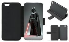 DARTH VADER STAR WARS Wallet Flip Phone Case iPhone 4 5 6 7 8 Plus X Galaxy (C)