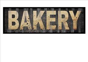 Vintage Shop sign Bakery Shop Sign Reproduction Vintage Sign Old Style Sign