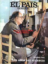 1982 Spanish Magazine – Salvador Dali Photo Cover + 2 Stories + 28 Pics