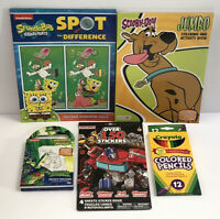 5pc Boys Art Gift Set Set Transformers Stickers Scooby Doo Jumbo Coloring Book..