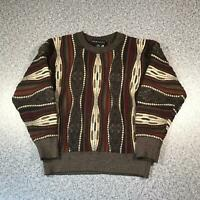 Vintage 90s BARACUTA Cosby Style Mens Sweater XS | 3D Knit Jumper MERINO WOOL