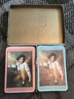 Beautiful Twin Set Of Waddingtons Playing Cards - Boy With A Rabbit