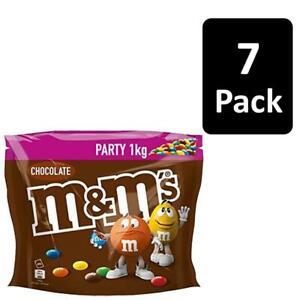 7 x 1kg M&M's Choco Milk Chocolate Party Bag Crisp Colourful Sugar Shell