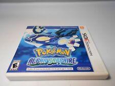 Pokemon: Alpha Sapphire (Nintendo 3DS) w/case & manual 2ds xl game