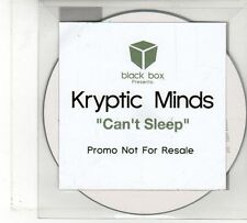 (FU874) Kryptic Minds, Can't Sleep - Ltd DJ CD