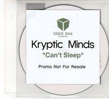 (FU874) Kryptic Minds, Can't Sleep - Ltd DJ CD
