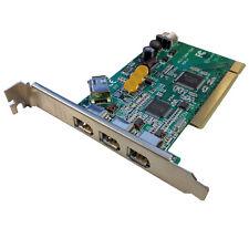 4 port PCI 6 PIN 1394a FireWire Adapter Card - 3 External 1 Internal