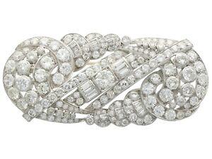 Antique Art Deco 12.64ct Diamond and Platinum Brooch Circa 1935
