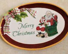 "Fitz And Floyd Dear Santa 9"" Plate"