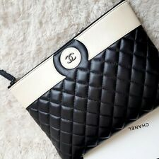 3e31f2122173 Style: Bifold. Chanel black lambskin wallet chain cross-post bag shoulder  bag clutch
