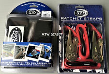Motorcycle Handlebar Tie Down bar Straps & Ratchets for Trailers R&G RACING