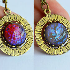 Dragon's Breath & Tanzanite - Fire & Ice Opal Pendant Necklace - Game of Thrones