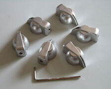 """6x Silver Chicken head Knobs 1/4"""" Guitar Amp Effect Pedal Knobs with Set Screw"""