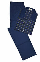 Brioni Men's Blue 100% Cotton Striped Pajamas