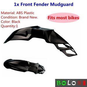 1x ABS Plastic Supermoto Front Fender Mudguards For Honda Kawasaki Suzuki Black
