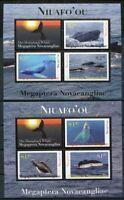 Niuafo'ou 2011 Wale Whales Meerestiere Buckelwale Säugetiere Block 41-42 MNH
