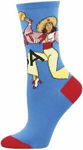 Socksmith Women's Novelty Crew Socks, WNC1527 Visit Cuba - Blue